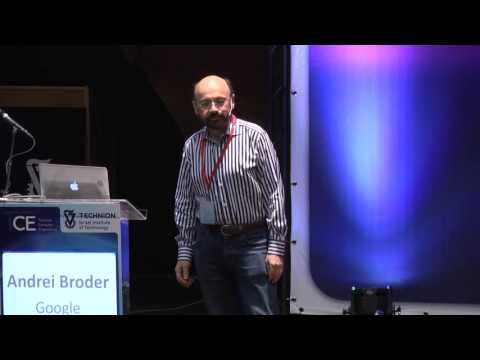 Andrei Broder - WAND Revisited - Technion Computer Engineering 2013 Conference