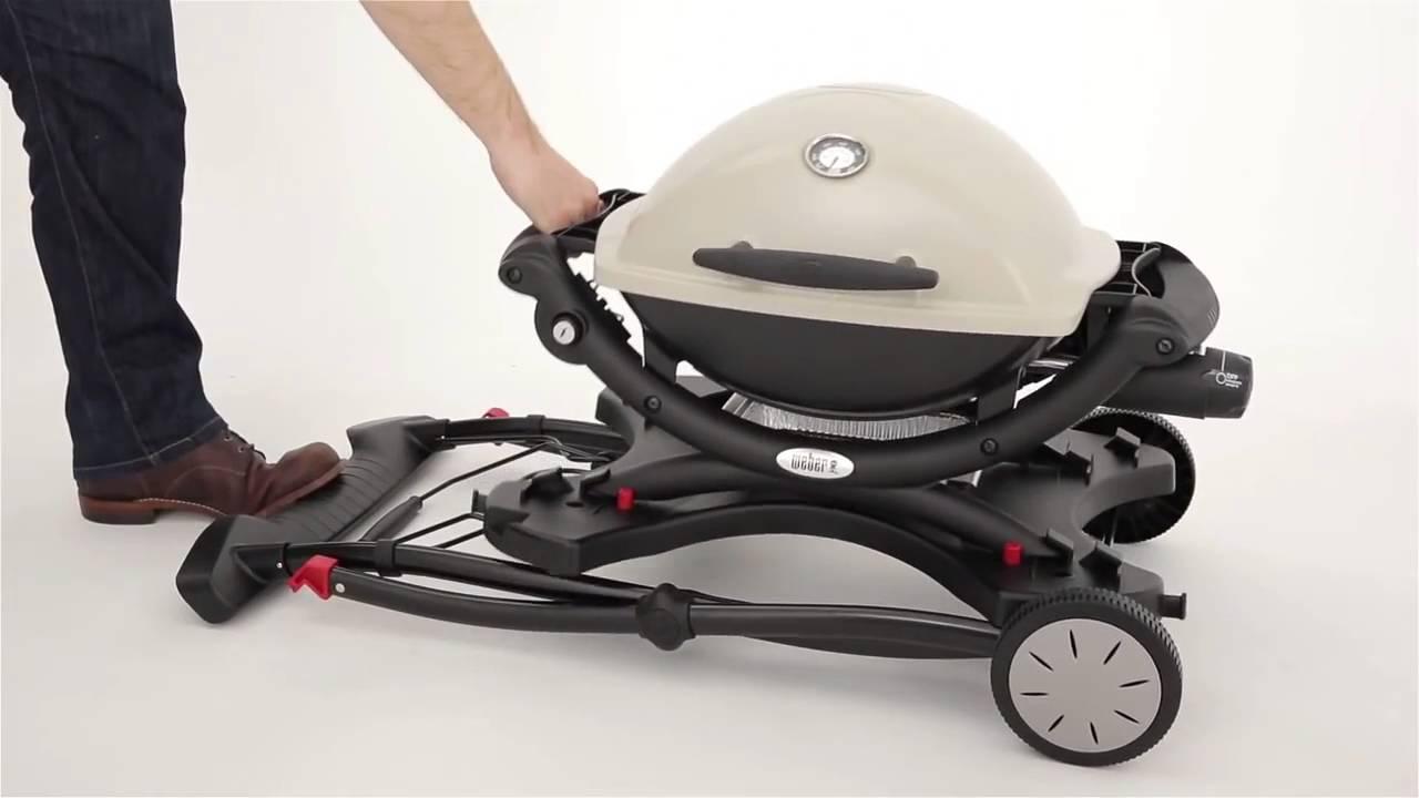 weber q portable cart q10002000 youtube. Black Bedroom Furniture Sets. Home Design Ideas