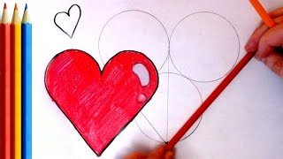 How to Draw the perfect Heart Symbol (EASY - Step by Step) Tutorial