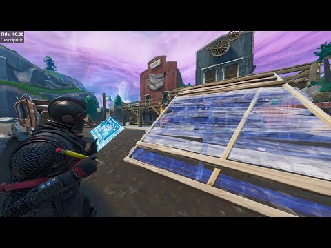 How to BUILD in TILTED TOWN!! ~ Fortnite Season X Glitch