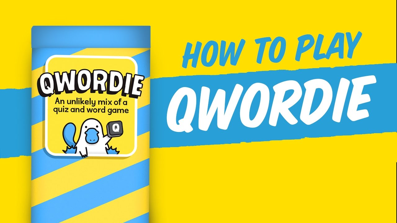 How to play: Qwordie - The Part Quiz, Part Word Game