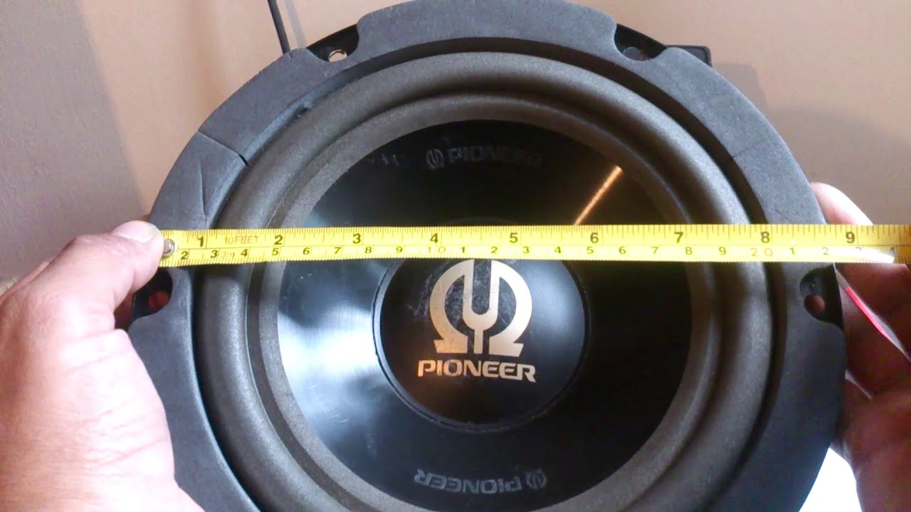 "PIONEER TS-W201 8"" OLD SCHOOL SUBWOOFER (rare) - YouTube"