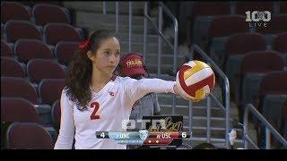 #tb Samantha Bricio (USC) vs UNC 150828