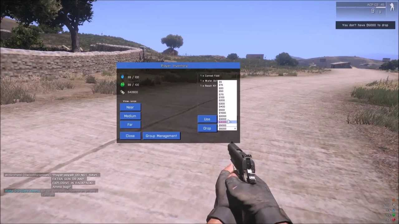 Arma 3 Wasteland How to dupe money!