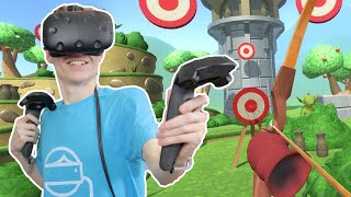 VIRTUAL BOW AND ARROW GAME! | Bowslinger: Virtual Reality Archery (HTC Vive Gameplay)