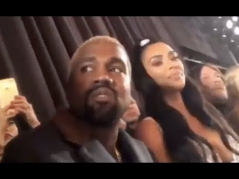 Kanye West Changes Facial Expression After 2 Chainz Records Him At Fashion Show