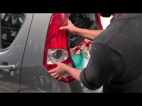 how to remove replace brake light bulb Suzuki Splash Full HD 1080p