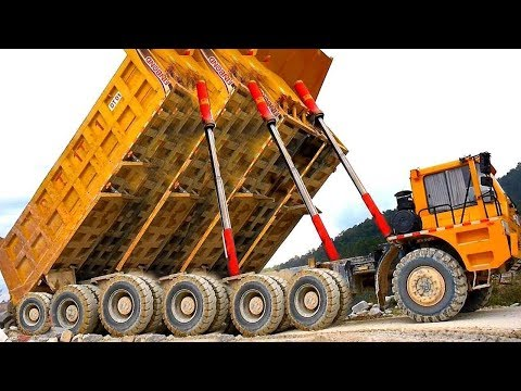 World Dangerous Idiots Heavy Equipment Truck Skills Driving, Extreme Fast Operator Road Truck Fails