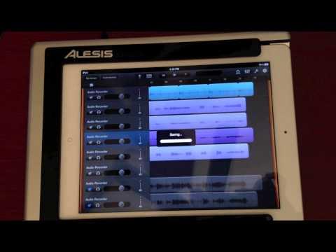 Alesis IO Dock Review Using IPad To Play Tracks Using GarageBand For IPad 2 - Pt. 4
