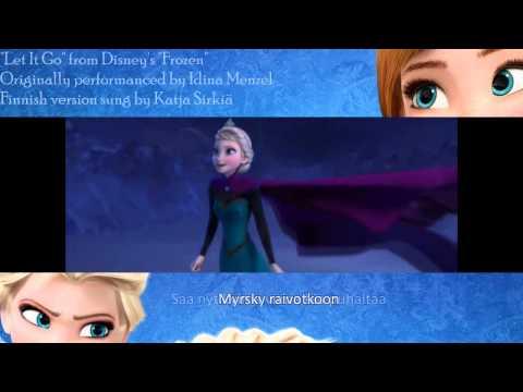 "Let It Go ""Taakse jää"" [Finnish] with lyrics & translation HD"
