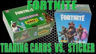 Panini FORTNITE TRADING CARDS SERIES 1 | CARDS vs. STICKER SKIN BATTLE | Unboxing