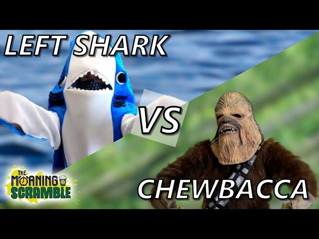 BATTLE: Left Shark vs Chewbacca!