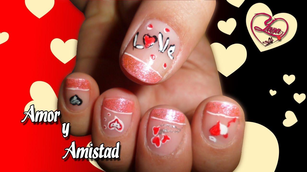 32 Decoración de Uñas Amor y Amistad , Yana Nail Art.