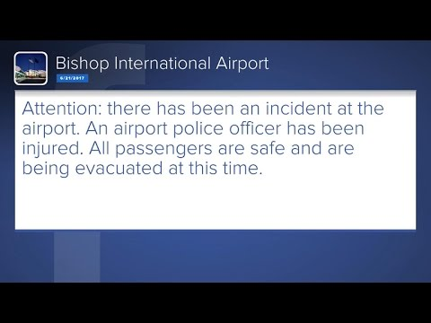 Officer stabbed at airport in Flint, Michigan