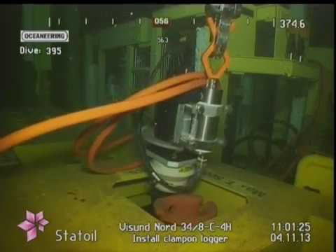 Subsea installation of ClampOn Battery / Data-logger