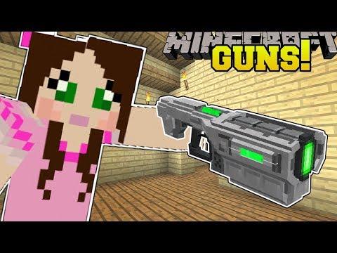 Minecraft: TECH GUNS!! (MISSILE LAUNCHER, ENERGY BLASTER, & SCAR RIFLE!) Mod Showcase