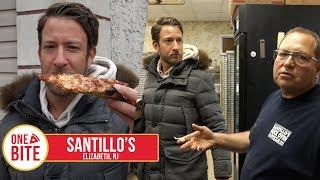 Barstool Pizza Review - Santillo's (Elizabeth,NJ) Bonus Old School Italian Pizza Maker