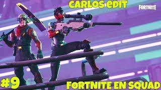 DIRECTO DE FORTNITE CON LA SQUAD #9 - SEASON 4 - Carlos Edit