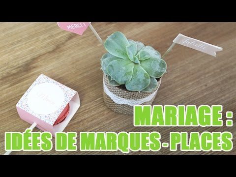 cr er des marques places originaux pour un mariage id es d coration mariage youtube. Black Bedroom Furniture Sets. Home Design Ideas