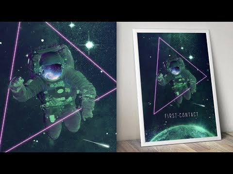 Space Scene Poster Photo Manipulation Photoshop Tutorial