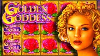 LIVE PLAY on Golden Goddess Slot Machine with Bonuses