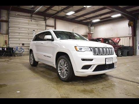 White Jeep Cherokee >> 2018 Diamond White Jeep Grand Cherokee Summit Hemi SJ6393 ...