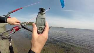 Light wind test, Eleveight 16 FS kite