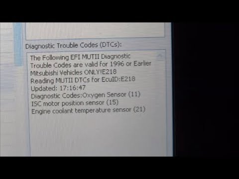 What you need to check Diagnostic Trouble Codes ( DTC ) of Mitsubishi Car