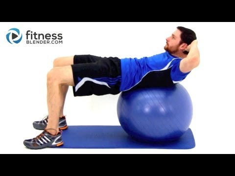 Challenging Exercise Ball Ab Workout - Physioball Workout for the Core