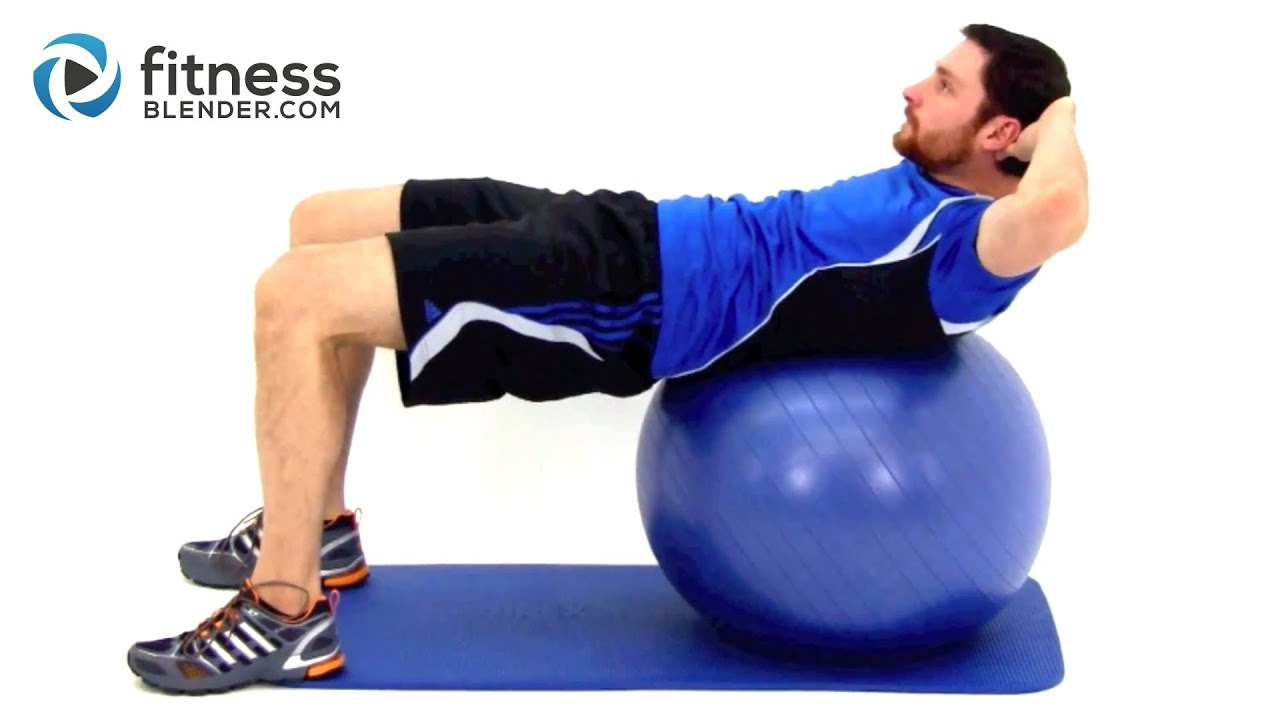 Challenging Exercise Ball Ab Workout