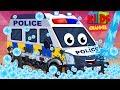Police Van | Car Wash | Childrens Cartoon | Street Vehicles | Video For Kids