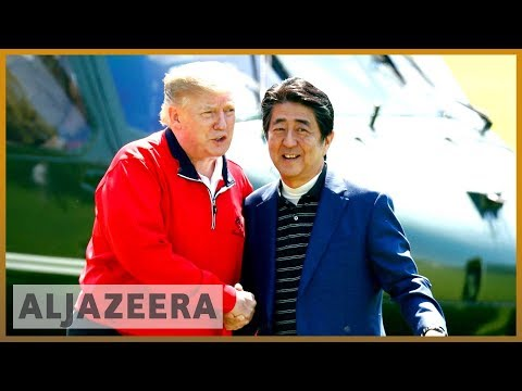 Donald Trump and Shinzo Abe tee off amid US-Japan trade tensions