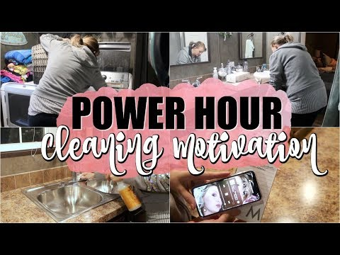 POWER HOUR CLEANING MOTIVATION | *NEW MUSIC* CLEAN WITH ME | THE WELDERS WIFE