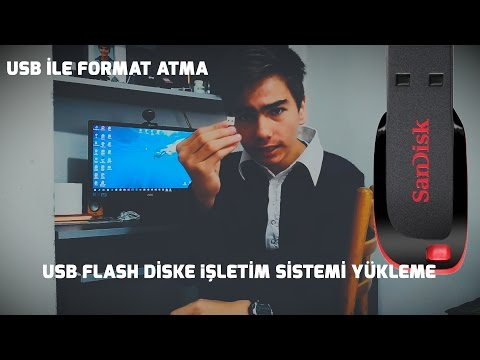 USB Flash Disk İle Format Atma Diski Oluşturma (PROGRAMSIZ)