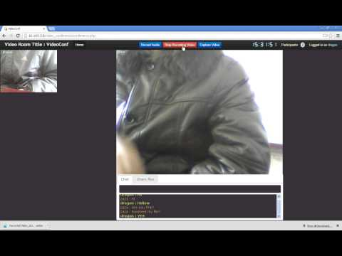 HTML5 video Chat/Conference Demo