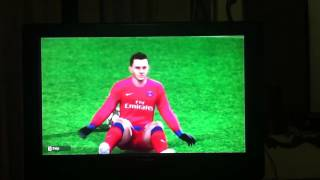 Wii pes 2013 champions league Barcelona vs PSG gameplay