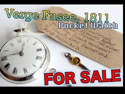 Antique - Solid Silver - Pair Case - Pocket Watch - Verge Fusee, 1811