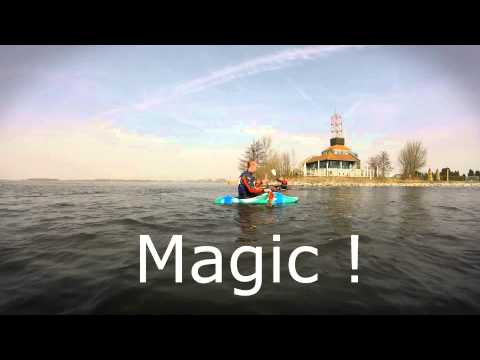Jackson Rockstar Freestyle Kayak on flatwater