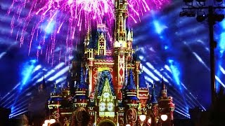 "The new Magic Kingdom fireworks show ""Happily Ever After"" debuted a..."