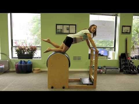 Exercícios de Pilates no Ladder Barrel