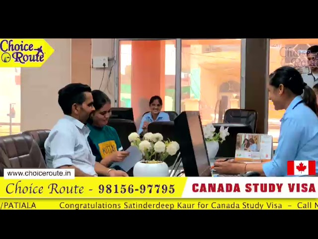Congratulations to Ms. Satinderdeep Kaur for her Canada Student Visa