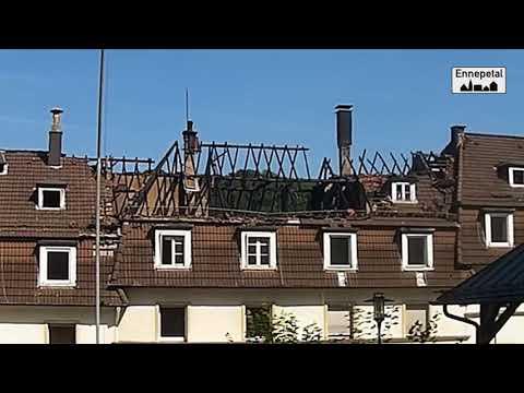 Mehrfamilienhauses in Ennepetal abgebrannt 27.08.2017