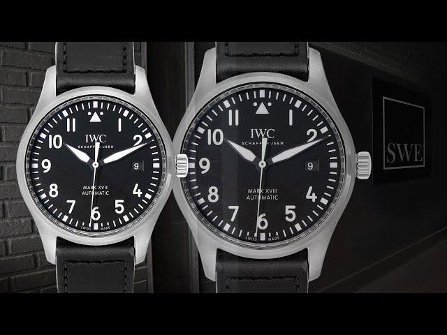 IWC Pilot Mark XVIII Black Dial Steel Mens Watch IW327001 | SwissWatchExpo [1 Minute Watch Review]