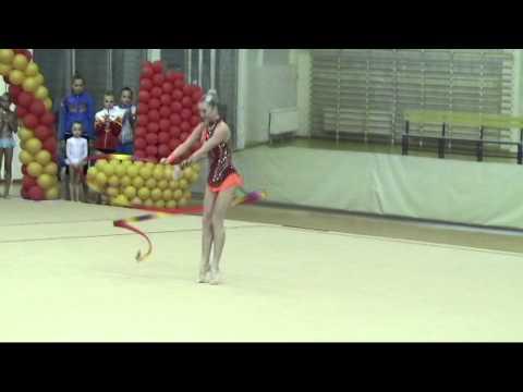 Елена Павлова, лента, бронзовый призёр Турнира городов России Алые Паруса