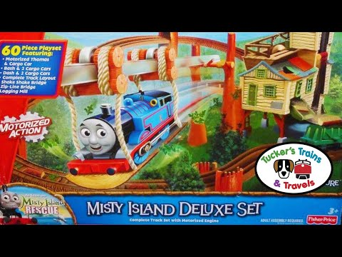 RARE Thomas And Friends MISTY ISLAND DELUXE SET! Trains For Kids!