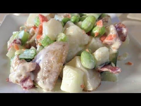 Japanese Edamame Potato Salad: Potato Salads