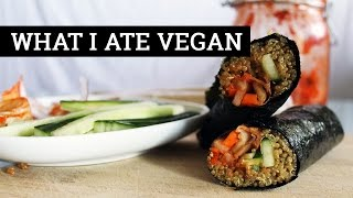 WHAT I ATE VEGAN #67 // SORT OF SUSHI NOT REALLY | Mary's Test Kitchen