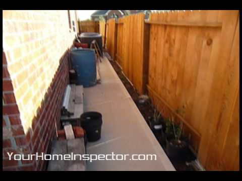 Houston home inspection backyard drainage problem youtube for Home drainage issues