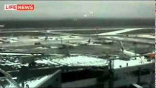 Видео с камер!! АВАРИЙНАЯ посадка Ту 154  в Домодедово