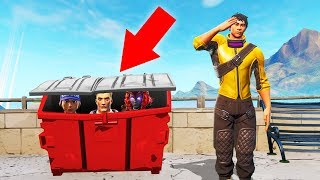 Winning While HIDING In The TRASH! (Fortnite Hide & Seek)